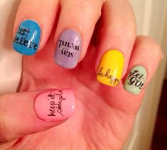 Positive Words Nail Decals on Etsy, $3.73