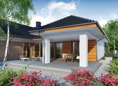 Otto 2 PS - zdjęcie 3 Building Plans, Building A House, House Outside Design, Modern House Design, House Plans, 18th, Garage Doors, New Homes, Exterior