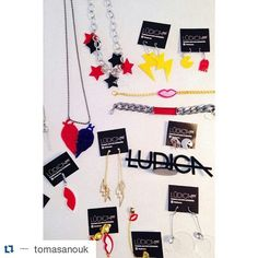 #newin @tomasanouk  #Repost @tomasanouk with @repostapp  NEW IN Lúdica SS16  #accesories #lasercut #kisses #warhol #pacman #choker #rings #earings #stars #colors by ludicacba