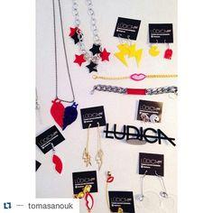 #newin @tomasanouk  #Repost @tomasanouk with @repostapp  NEW IN Lúdica SS16  #accesories #lasercut #kisses #warhol #pacman #choker #rings #earings #stars #colors by ludicacba