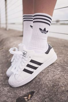 Adidas Superstar II /Black Stripes/ #Originals #Black #Tumblr