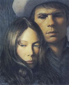 """Richard Amsel's unused art for the """"Coal Miner's Daughter"""" (1980) movie poster"""