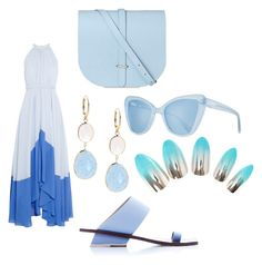 """""""Blue 🐟"""" by hilal-arslan on Polyvore featuring Prism, Abcense, Saloni and Saks Fifth Avenue"""