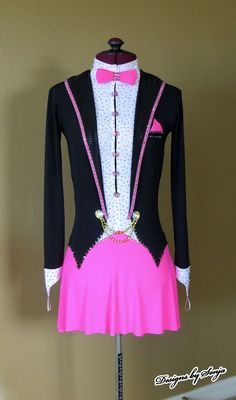Image result for tuxedo skating dress