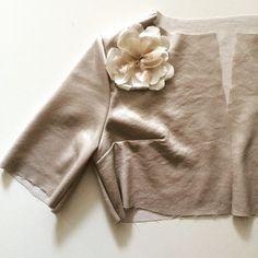 Box cropped jacket with silk malmaison rose corsage on it's way to being finished #Bridal #Bespoke #wedding #Silk #taradeighton
