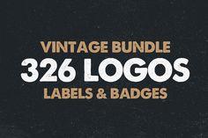 MEGA BUNDLE – 326 Vintage-Logovorlagen