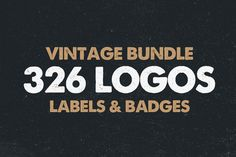 MEGA BUNDLE 326 Vintage Logos Badges by DesignDistrict on Creative Market
