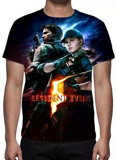 camisa, camiseta game resident evil 5 - estampa total