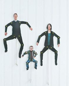 These better-than-family-portraits dancing family cutouts. | 23 DIY Father's Day Gifts That Don't Suck