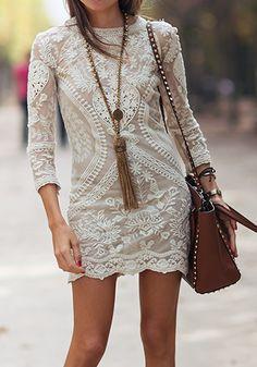 Gorgeous bohemian lace dress