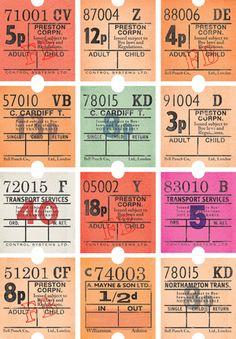vintage bus tickets