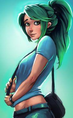 Greenie by Raichiyo33 on deviantART . Character Illustration Inspiration