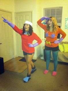 best friend couple costume Mermaid Man and Barnacle Boy Halloween 2013