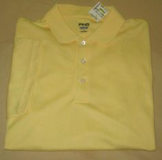 NEW Men's PING COLLECTION GOLF Shirt Sz L Large  - Yellow - NWT #Ping #PoloRugby