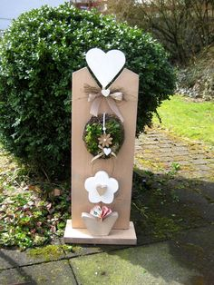 Money gifts – ♥♥ Money gift idea XL interior and exterior decoration ♥♥ – a design … - Modern Wood Crafts, Diy And Crafts, Wood Projects, Projects To Try, Wooden Pattern, Wood Creations, Shabby Chic Style, Valentines Diy, Porch Decorating