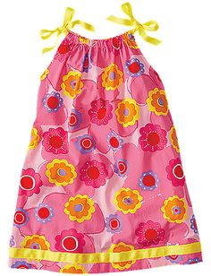 Pillowcase Dress from #HannaAndersson. Want this for Belle the spring holiday Easter Passover and for the summer? Please