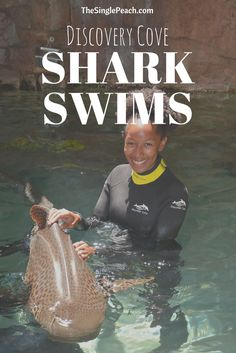 Ever wanted to swim with sharks?! Now you can at Discovery Cove in Orlando!