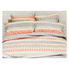 MANAMI Multi-coloured jacquard double duvet cover