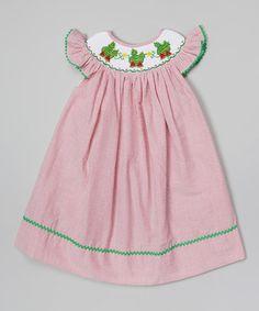 Look what I found on #zulily! Red Seersucker Watermelon Smocked Dress - Infant, Toddler & Girls by Molly Pop Inc. #zulilyfinds