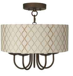 "Wynwood 14"" Wide Ceiling Light with Hourglass Shade -"