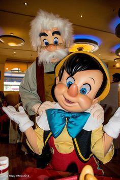 Gepetto Pinocchio @ Cafe Mickey, Disneyland Paris. Happy Father's Day!