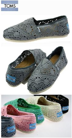 Toms Crochet Shoes Deep Grey Womens Classic : Toms Outlet Online,Cheap Toms shoes, Toms outlet store online,which provide best toms shoes online.Toms shoes for women,toms shoes for kid on sale. Cheap Toms Shoes, Toms Shoes Outlet, Toms Boots, Shoe Outlet, Toms Crochet, Crochet Shoes, Sneakers Fashion, Fashion Shoes, Moda Sneakers