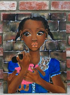 """African Art """"Holding on to Love"""""""