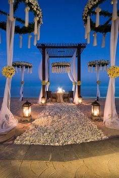 Regis Bali Resort—Romantic Wedding Dinner The St. Indian Beach Wedding, Bali Wedding, Wedding Dinner, Wedding Ceremony, Dream Wedding, Beach Ceremony, Wedding Backdrops, Ceremony Backdrop, Wedding Set