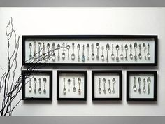 Great idea to showcase a collection! Collector Spoon Display by Framehouse Boutique, via Flickr: