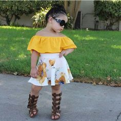Gorgeous outing wears for the kids - DarlingNaija Dresses Kids Girl, Cute Girl Outfits, Little Girl Outfits, Kids Outfits Girls, Cute Outfits For Kids, Little Girl Fashion, Toddler Girl Outfits, Baby Outfits, Cute Kids Fashion