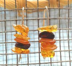 Baltic Amber Earrings in Sterling Silver Arch Hook by YLOjewelry