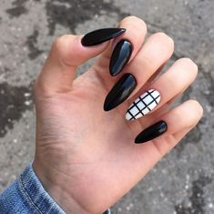 awesome acrylic coffin nails designs in summer 10 ~ thereds.me awesome acrylic coffin nails designs in summer 10 ~ thereds. Grunge Nails, Edgy Nails, Stylish Nails, Swag Nails, Summer Acrylic Nails, Best Acrylic Nails, Nail Summer, Black Nail Designs, Acrylic Nail Designs
