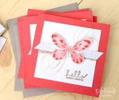 Watercolor Wings Set - Stampin' Up! Artisan Blog Hop / Create with Kaitlyn