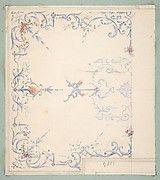 Jules-Edmond-Charles Lachaise | Design for a paneled ceiling to be painted in grotesque motifs | The Met Metropolitan Museum, The Dreamers, Vintage World Maps, Ceiling, Hand Painted, Artwork, Painting, Image, Design
