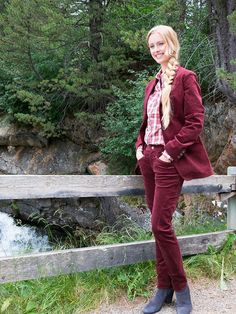 """#Samt #Reiterhose """"Maxton"""" by Brigitte von Boch #bevonboch #burgund #velvet"""