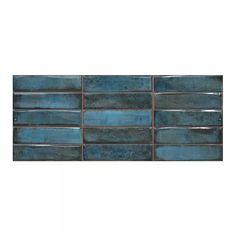 Mozaika Montblanc 20 x 50 cm niebieska 1 m2 - Płytki ścienne - Castorama Navy And Copper, Blue Backsplash, Kitchen Backsplash, Large Format Tile, Wood Counter, Ceramic Wall Tiles, Mosaic Wall, Copper Kitchen, Mont Blanc