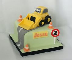 fondant diggers and trucks kids cake - Google Search