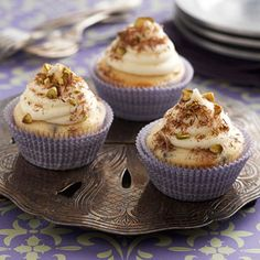 Just as yummy as cannoli purchased in an Italian bakery (but much easier to make), these sweet, tender cupcakes are topped with a frosting made with ricotta cheese. The choice between whole milk ricotta and skim milk ricotta is yours to make;  the frosting is delicious when made with either product.