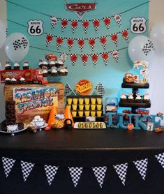 Disney cars birthday party ideas photo 2 of 40 catch my. Car Themed Parties, Cars Birthday Parties, Birthday Party Decorations, Festa Hot Wheels, Hot Wheels Party, Disney Cars Party, Disney Cars Birthday, Car Party, Race Car Birthday