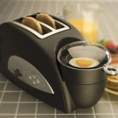 Toaster/Egg Maker.  Breakfast Bliss...  This would only further fuel my obsession with breakfast