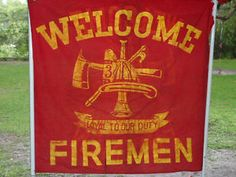 Rare Vintage Welcome Firemen Flag NEW YORK Fire Department Red Banner Loyal to Our Duty N.Y.F.D. Fireman Fire Fighter #forsale #ebay #antique #collectible Forgotten Treasures, New York, Firemen, Flag Banners, Fire Department, E Bay, Welcome, Vintage Antiques, Retro