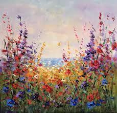 schilderij bloemen - Google zoeken