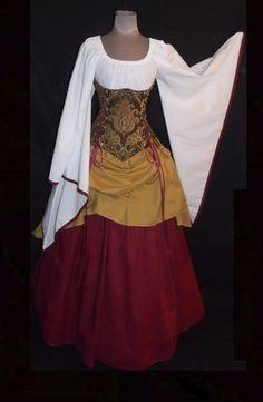 Alluring Dutchess Under-bust Corset Set - renaissance clothing, medieval, costume