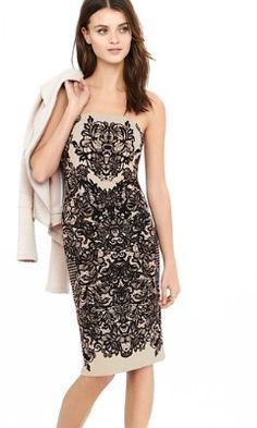 79.90 express amazing........ornate lace print tube dress from EXPRESS