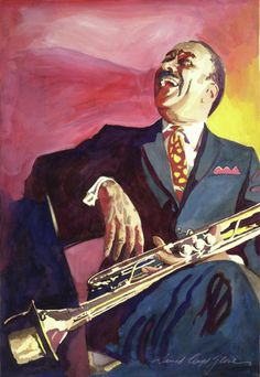 """David Lloyd Glover, """"Buck Clayton Jazz Trumpet"""" - Many of Hollywood's A-list celebrities and recording stars are among his top collectors. For his many galleries, Glover has created images ranging from Impressionist landscapes to Iconic pop art images of Jazz artists and Rock stars.  David Lloyd Glover has a 25-year international reputation exhibiting in major galleries in the US, Canada, Mexico, and Japan. Since 1986 he has sold over 2,000 original paintings."""