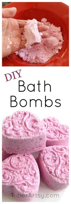 Learn to make your very own luxurious, scented DIY Bath Bombs with this super easy beauty recipe. A free FiberArtsy.com tutorial