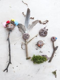 The Clay Heads - Make Your own Clay Creatures on a Stick Make Your Own Clay, How To Make, Autumn Activities, Diys, Creatures, Plants, Red, Bricolage, Flora