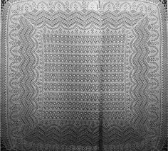 Knitting Pattern Name: The Queen Susan Shawl Pattern by: The Ravelry Heirloom KNitting Forum