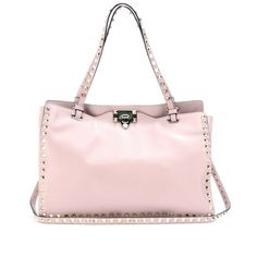mytheresa.com - Rockstud leather tote - Luxury Fashion for Women / Designer clothing, shoes, bags