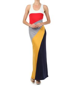Look what I found on #zulily! Red & Yellow Color Block Dress by J-MODE #zulilyfinds